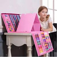 Детский набор для рисования (208 предметов), Набор для детского творчества в чемодане, Чемодан юного художника