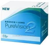 Контактные линзы PureVision 2 (6шт в уп) или 3+3