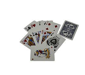 Карты игральныe атласные Duke N0977 54 листа 87x62 мм DN30767BL, КОД: 1128007