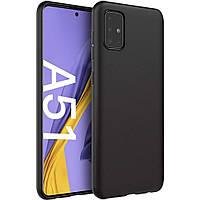 Чехол для Samsung Galaxy A51 A515F силиконовый ультратонкий черный (самсунг а51 а515ф)