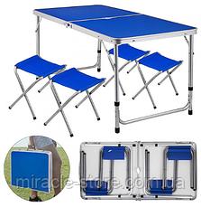 Усиленный стол для пикника с 4 стульями Rainberg, фото 3