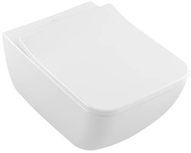 Унітаз підвісний VILLEROY&BOCH LEGATO Rimless Ceramic Plus 56 см + сидіння 9M95S101