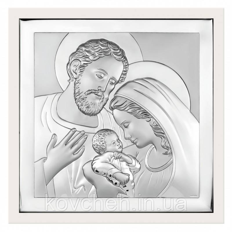 """Икона серебряная """"Святое Семейство"""" 10x10"""