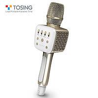 Микрофон караоке TOSING V2 (TUXUN) Оригинал / Модель 2020! / Беспроводной, Портативный, Bluetooth