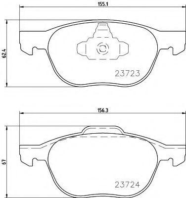Колодки тормозные дисковые Mazda B3YH3328ZAMV