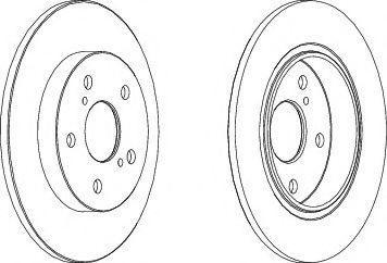 Гальмівний диск Toyota 4243102180