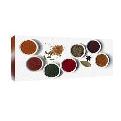Картина на полотні 30х65 Прянощі в посуді (H3065_YM020)