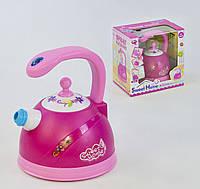 Чайник игровой Small Toys QF 2901P проигрывает реалистичные звуки и выпускает пар Розовый 2-72514, КОД: 1249999