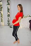 8204 Футболка для беременных Красная, фото 1