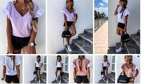 Женская футболка стильная, повседневная. Ткань: вискоза. Размеры: 48-50 , 52-54.