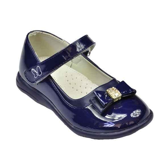 Туфли синего цвета на липучке для девочки, ТМ Clibee