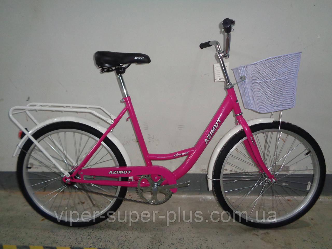 """Велосипед с женской рамой Azimut Lady F-5 26"""" розовый"""