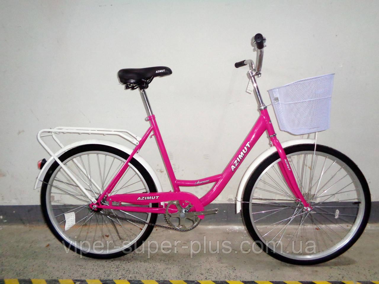 """Велосипед с низкой рамой Azimut Lady F-5 24"""" розовый"""