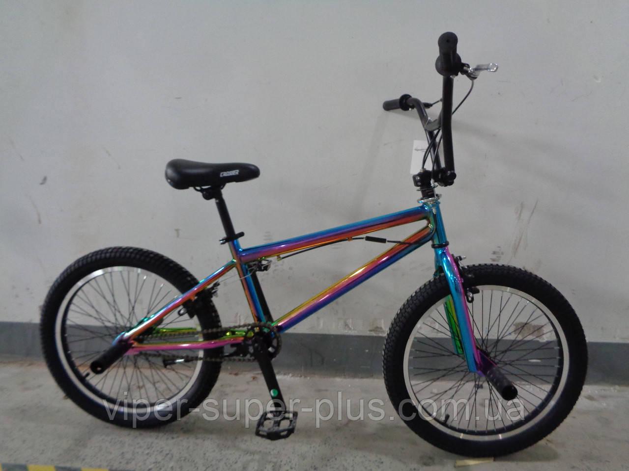"""Велосипед bmx для подростка Crosser Rainbow 20"""" радужный"""