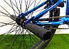 "Велосипед bmx для подростка Crosser Rainbow 20"" синий, фото 8"