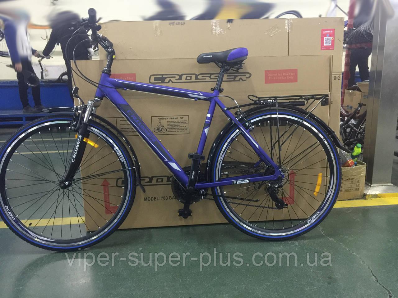 Городской велосипед Crosser Gamma 28 Синий