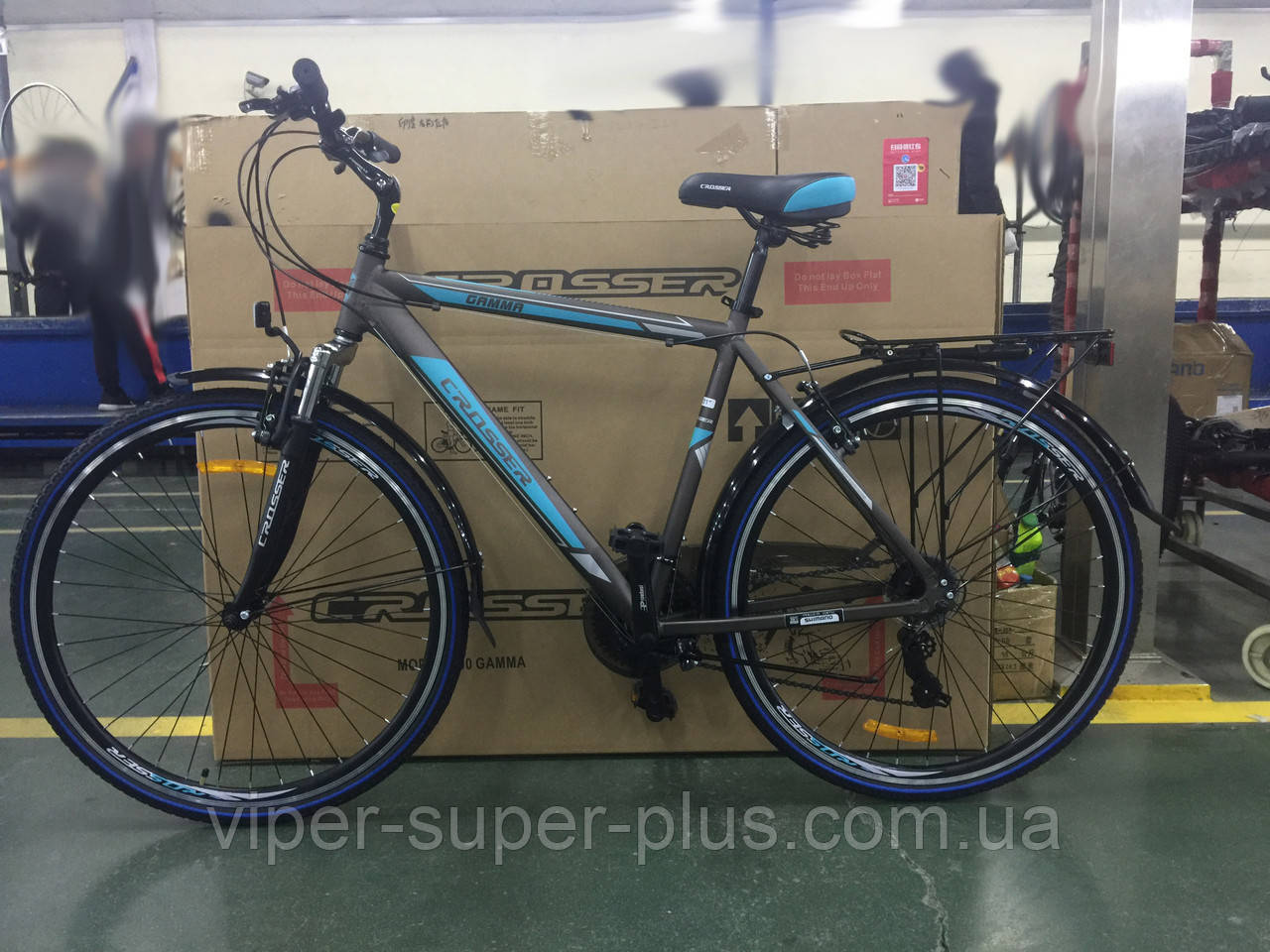 Городской велосипед Crosser Gamma 28 Серый