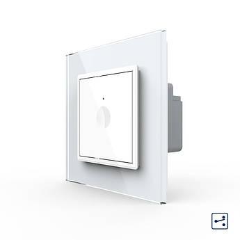 Сенсорный проходной выключатель Livolo белый (7220003)