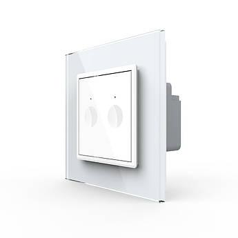 Сенсорный выключатель Livolo 2 белый (7220002)