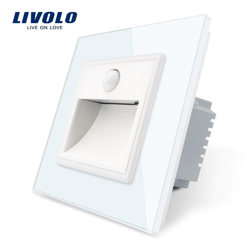 Светильник для лестниц подсветка пола Livolo с датчиком движения цвет белый (702800211)