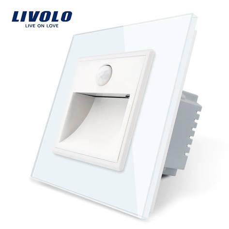 Светильник для лестниц подсветка пола Livolo с датчиком движения цвет белый (702800211), фото 2