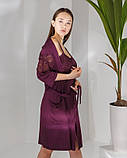 Женский  халат   и сорочка с кружевом Nicoletta, фото 2