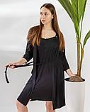 Женский  халат   и сорочка с кружевом Nicoletta, фото 4