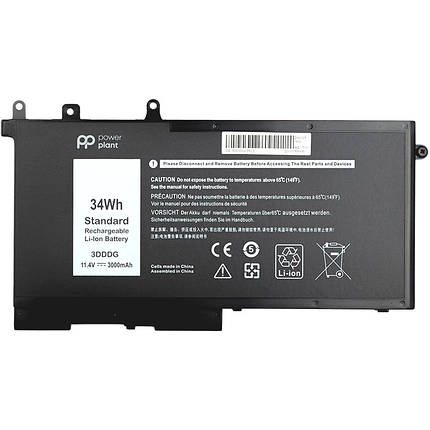 Аккумулятор PowerPlant для ноутбуков DELL Latitude E5580 (3DDDG) 11.4V 3000mAh, фото 2