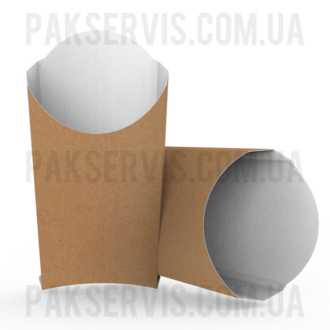"""Упаковка для Фри """"XL"""" 180x120x55мм Крафт 1/50"""