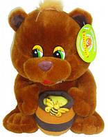 Мягкая игрушка Медведь с бочонком мёда