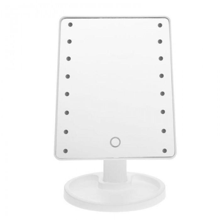 Зеркало для макияжа с LED подсветкой Large Led Mirror 16 LED БелыйНет в наличии