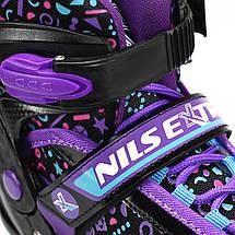Роликовые коньки Nils Extreme NQ4411A Size 34-37 Black/Purple, фото 2