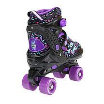 Роликовые коньки Nils Extreme NQ4411A Size 34-37 Black/Purple, фото 3