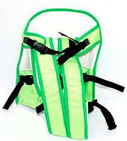 Рюкзак кенгуру, сидя, салатовый, предназначен для детей с трехмесячного возраста SKL11-181639