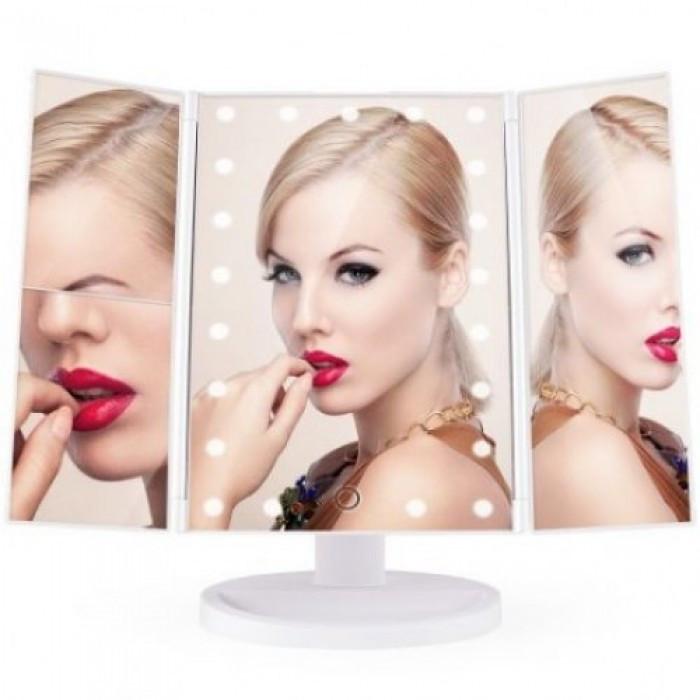 Зеркало для макияжа Superstar Magnifying Mirror с LED-подсветкой БЕЛЫЙНет в наличии