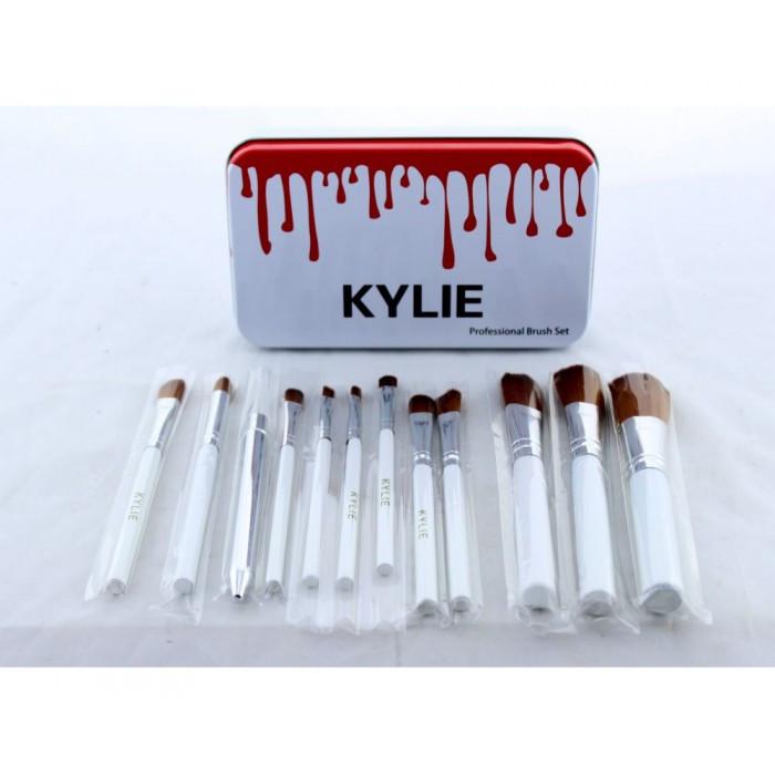 Кисти для макияжа Kylie 12 шт набор кистей кисточки 12 шт БелыеНет в наличии