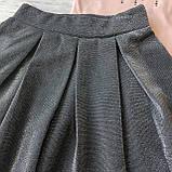 Річний персиковий костюм на дівчинку з спідницею. Розмір 116 см, 122 см, 128 см, 134 см, фото 2