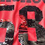Летний красный костюм на девочку 100.  Размер 116 см, 122 см, 128 см, 134 см, фото 2