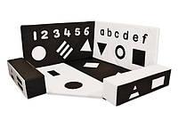 Детский мягкий игровой Развивающий Сенсорный уголок Черно-белый для детсадов, игровых центров школ 5 элементов