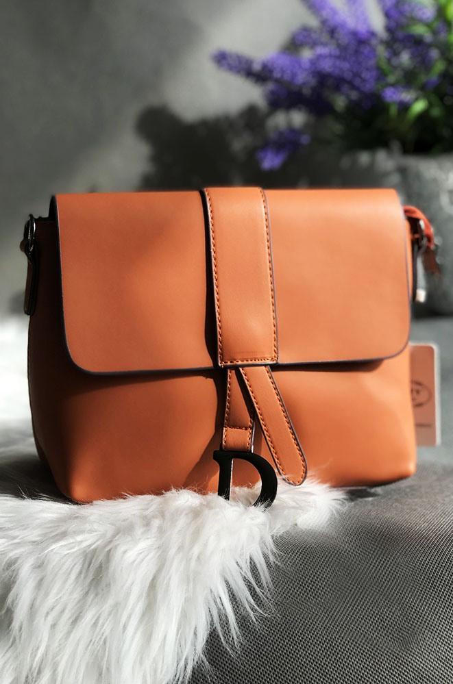 Сумка-клатч женский оранжевый размер 18 х 23 х 7 AAA 1130/2