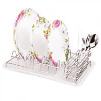 Сушка для посуды с поддоном 38*25*9.2см