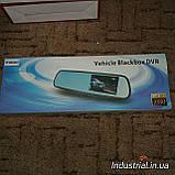Видеорегистратор зеркало заднего вида DVR L 9000 c 2-мя камерами, фото 2