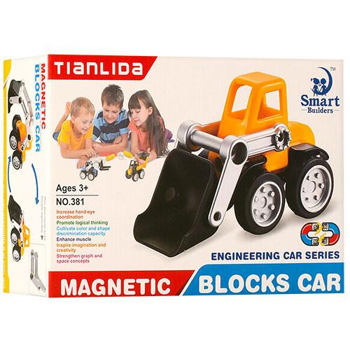 Конструктор 381 магнитный транспорт