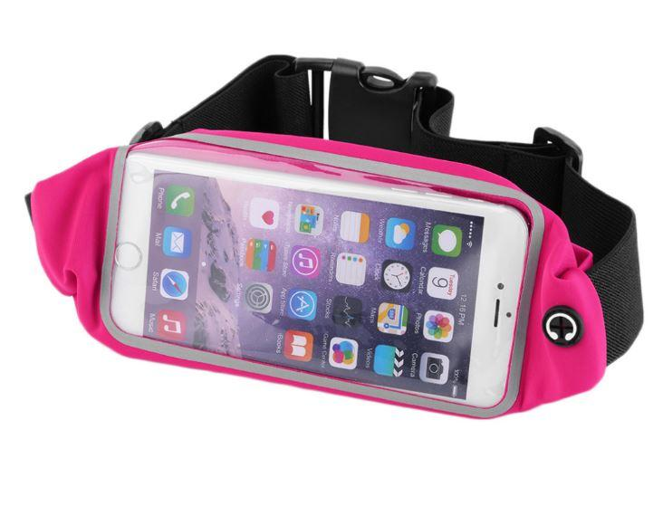 Спортивная сумка для бега, чехол для телефона с сенсорным окном и светоотражающей вставкой на пояс