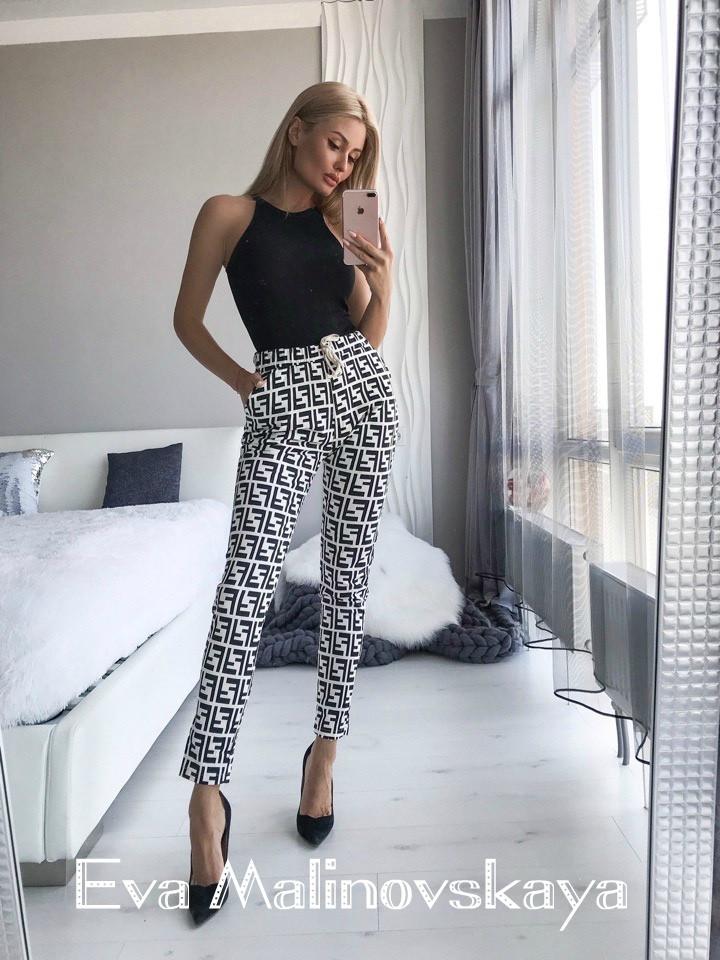 Женские брюки, коттон, р-р L(42-44); XL(44-46) (белый)