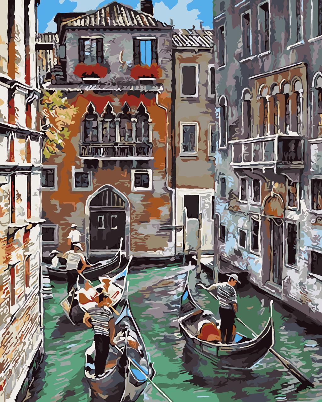 Художественный творческий набор, картина по номерам Каналы Венеции, 40x50 см, «Art Story» (AS0037)