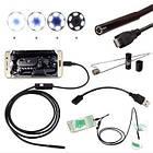 USB эндоскоп-бороскоп 2 метра с подсветкой. USB эндоскоп технический цифровой для смартфона/ПК, фото 8