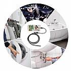 USB эндоскоп-бороскоп 2 метра с подсветкой. USB эндоскоп технический цифровой для смартфона/ПК, фото 2