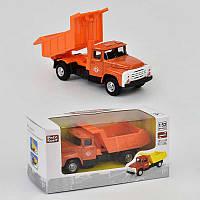 """Машинка металлопластик 6517 В Самосвал (96) """"ЗИЛ"""", инерция, кузов откидывается, в коробке"""