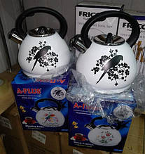 Чайник зі свистком А-Плюс, A-Plus WK-1388 з індикатором нагріву на 3 літри папуги